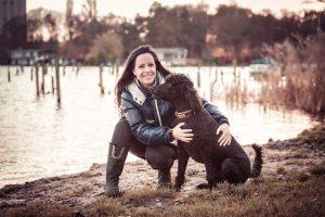 Nicole Kinsbergen met hond